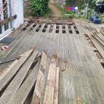 Old decking removed replaced Bernie's Gardening Services Guernsey