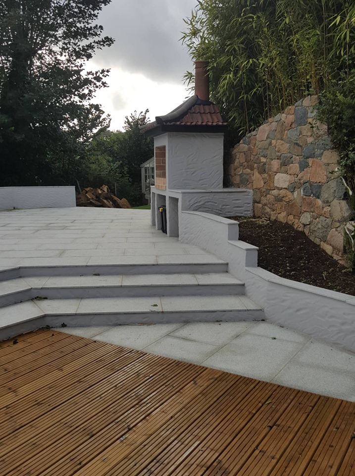 patio paving decking bernie's gardening services guernsey