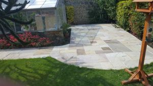 Paving winter ready Garden maintenance and patios Bernie's Gardening Services garden designer Guernsey