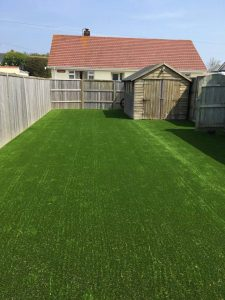 Large artificial grass lawn for Bernies Gardening Services