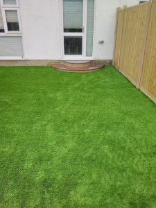 Artificial grass back lawn for Bernies Gardening Services