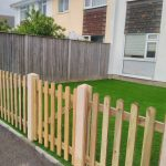 Wooden fence for back garden Bernies Gardening Services
