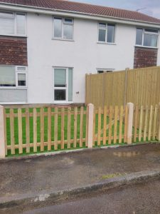 Back garden wooden fence for Bernies Gardening Services