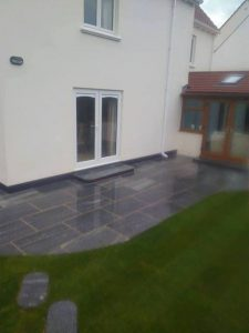 Guernsey landscaping design patio slabs Bernie's Gardening Services
