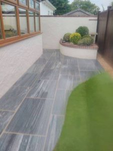 Guernsey landscaping design patio and shrubbery Bernie's Gardening Services