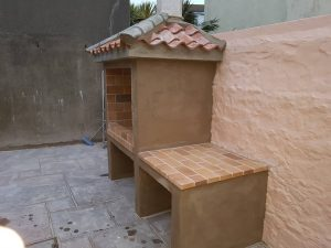 Pizza oven and patio paving