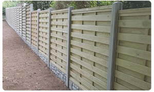Garden fencing in Guernsey. We create and install fences.