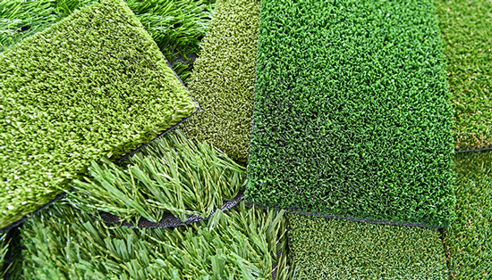 Our range of natural looking artificial grass comes in different colours and styles.