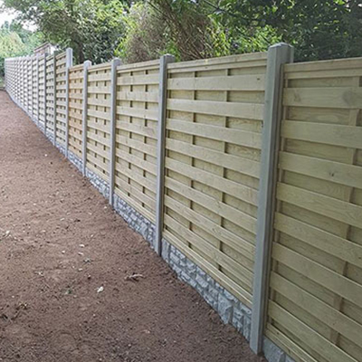 Brand new fence put up in Guernsey by our team of gardeners.